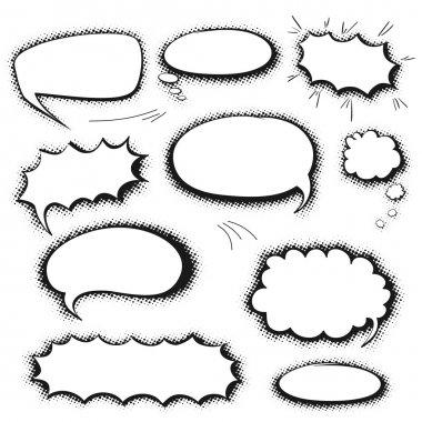 Set comics bubbles