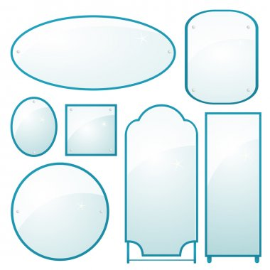 Set of mirrors of different shapes