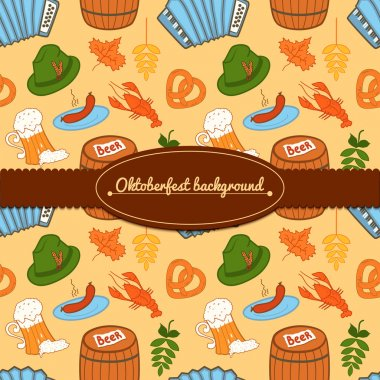 Oktoberfest celebration background