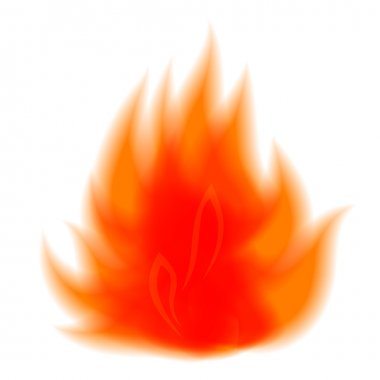 Icon element of fire