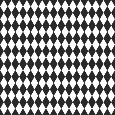 Background with black and white rhombus