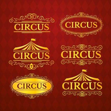 Circus vintage badge's set