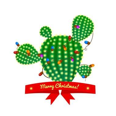 Christmas green cactus tree