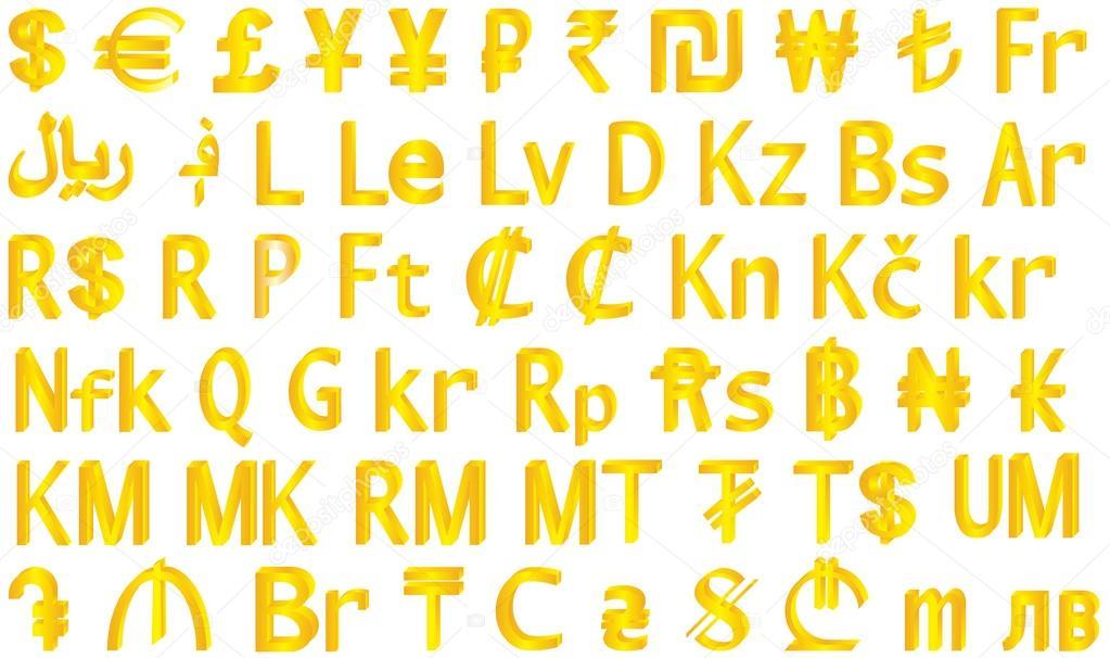 Currency Symbols Stock Vector Anutuno 82550148