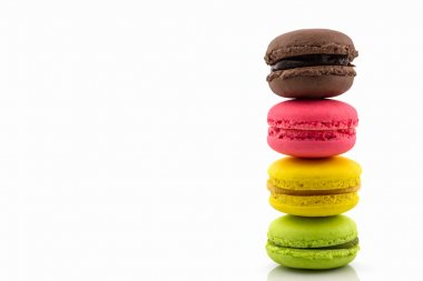 Sweet and colourful french macaroons or macaron.