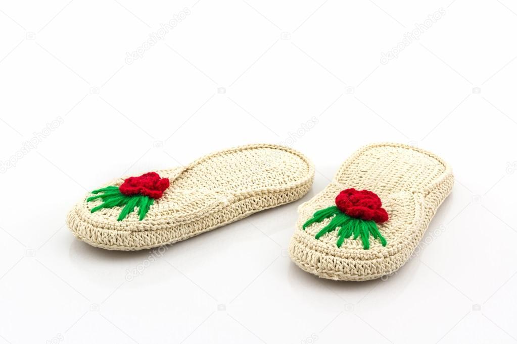 dd44d8bac Zapatos sandalias tejidas — Fotos de Stock © amnachphoto  98959698