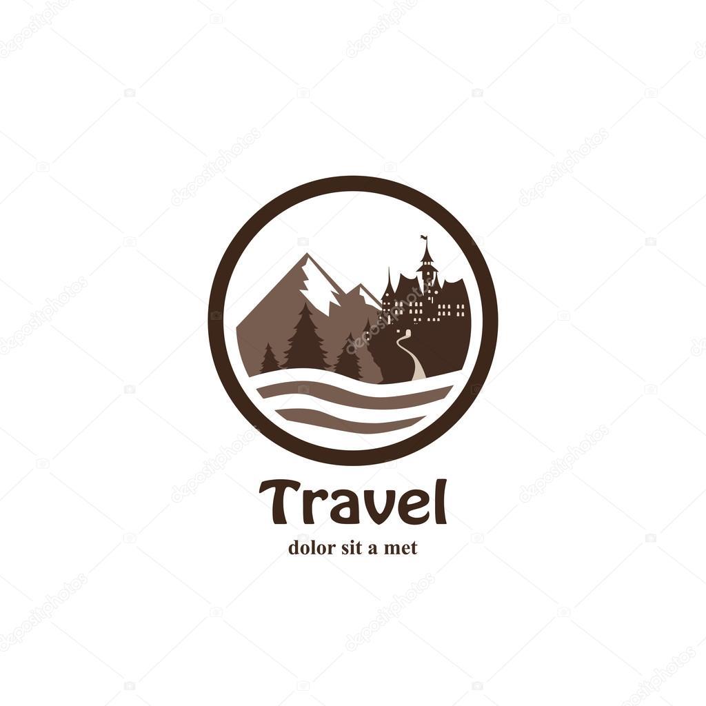 Travel Logo Black And White Travel Agency Logo In Black White Style Stock Vector C Roilira 72011217