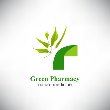 Green pharmacy. Medical green cross.