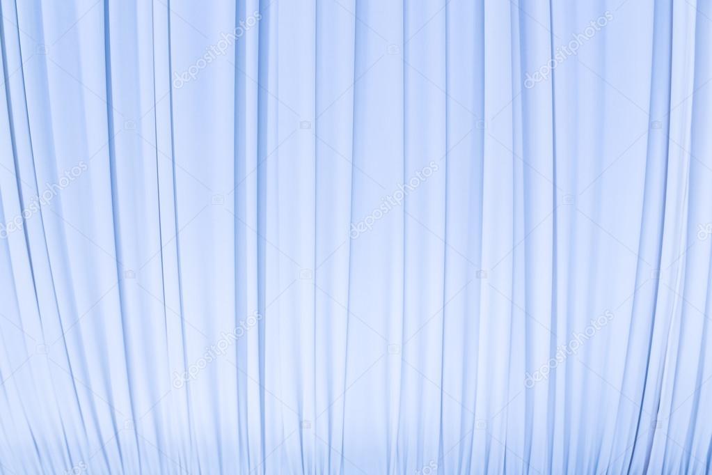 Rideau de tissu de couleur bleu pastel — Photographie djetawat ...