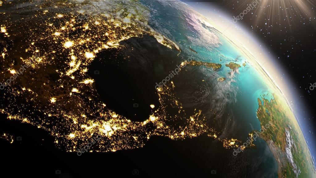 Imágenes Del Planeta Tierra Zona De América Central De La Tierra