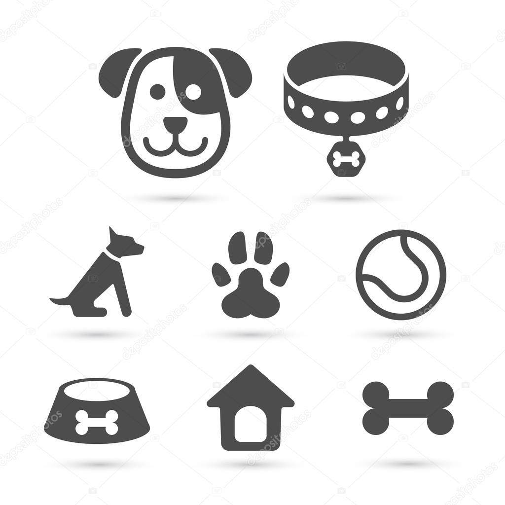 Cute dog icon symbol set on white vector stock vector moofer cute dog icon symbol on white vector element vector by moofer buycottarizona Images