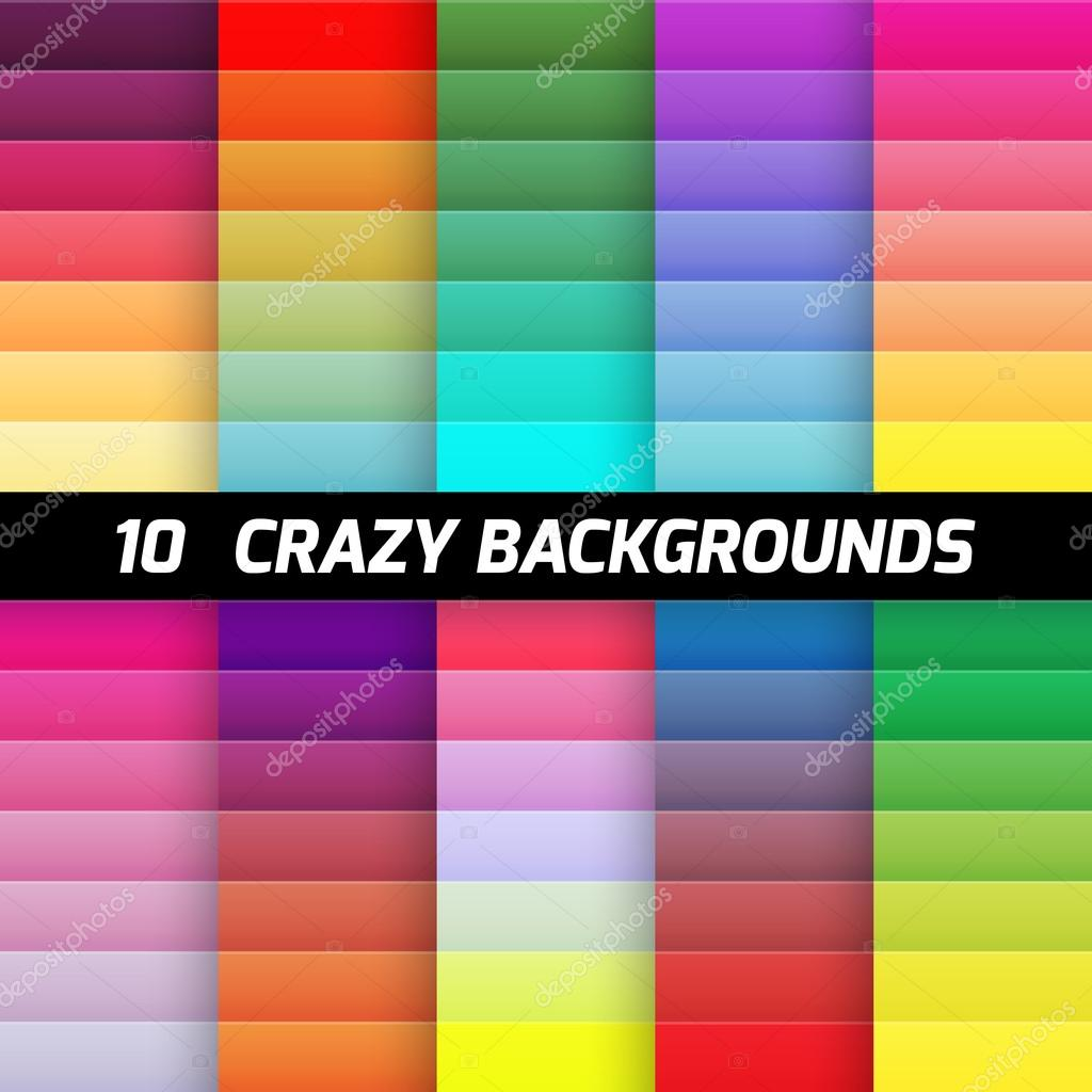 Crazy gradient background pack. Vector element