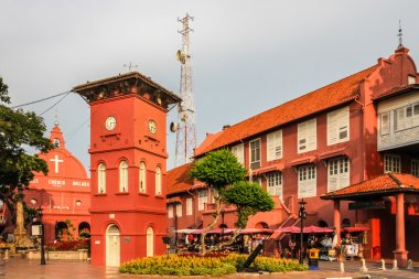 City center with Church and Tower-Melaka, Malaysia