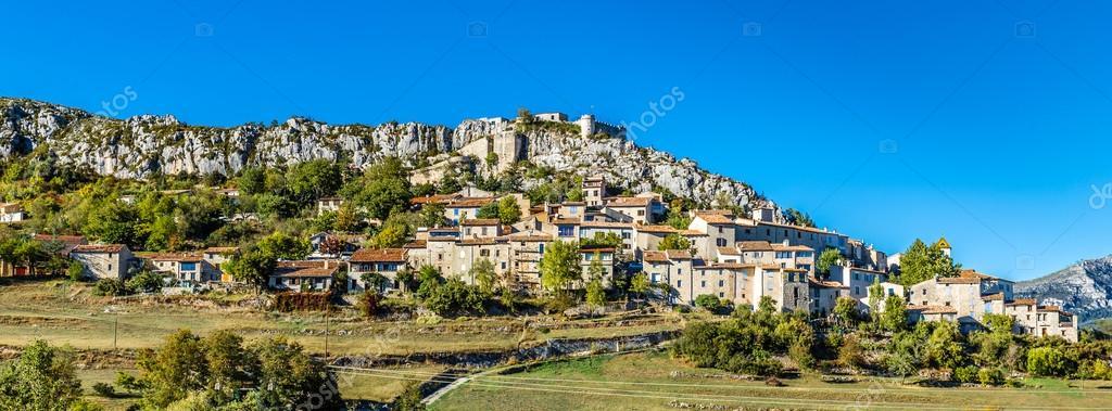 Trigance Village And Castle-Provence,France
