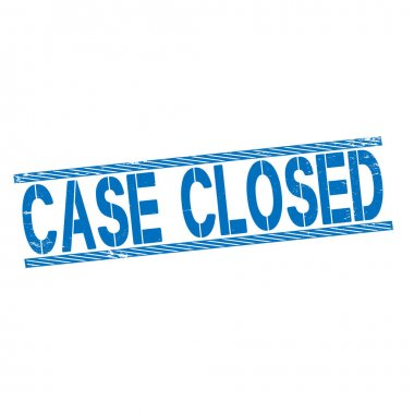 Red stamp case closed , vector illustration on white