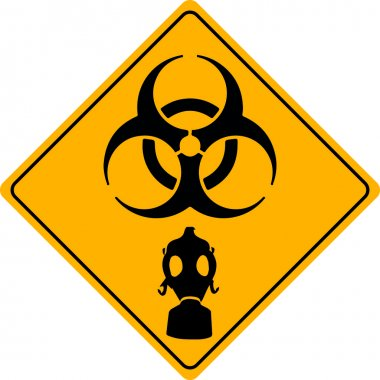 Traffic sign toxic gas stock vector