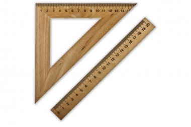 Two measuring rulers
