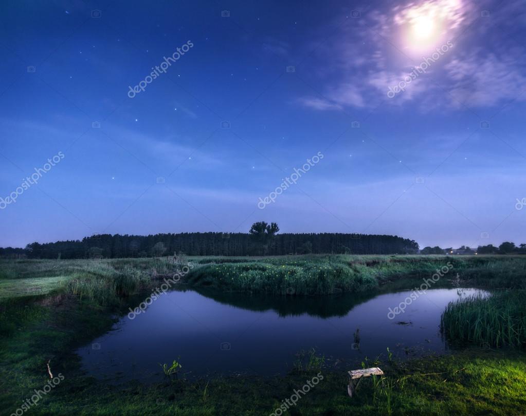 moon river at night