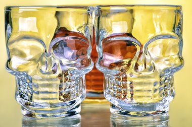 glasses in shape of skeleton
