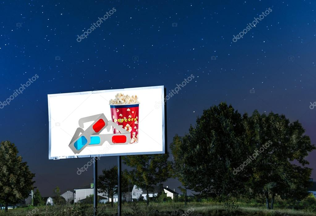 Billboard with 3d glasses