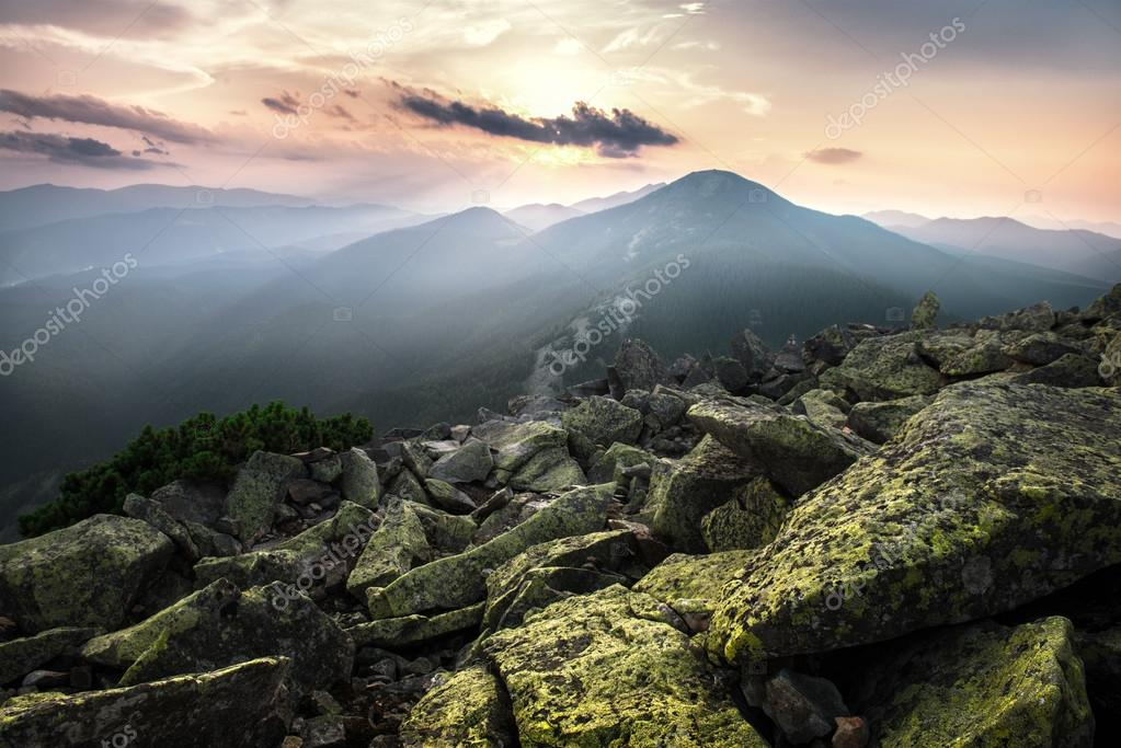 Mountains summer landscape