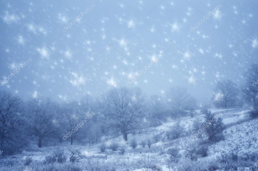 Natural winter landscape