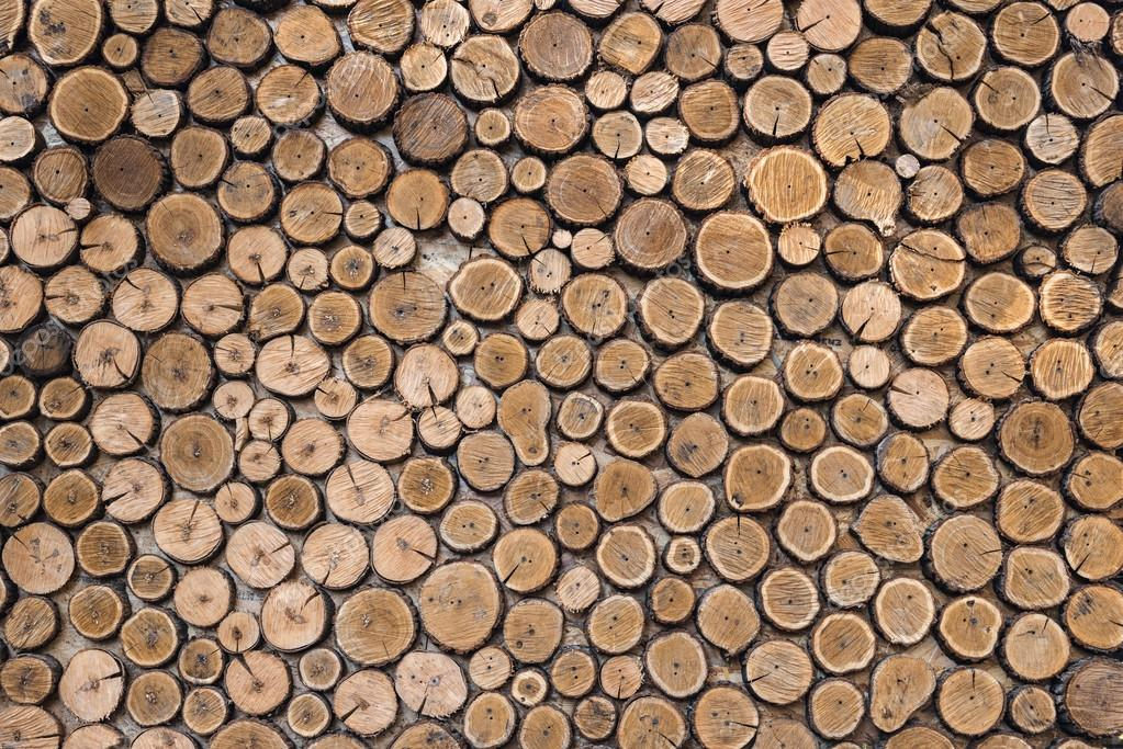 Natural wooden logs