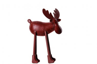 Christmas Elk on white