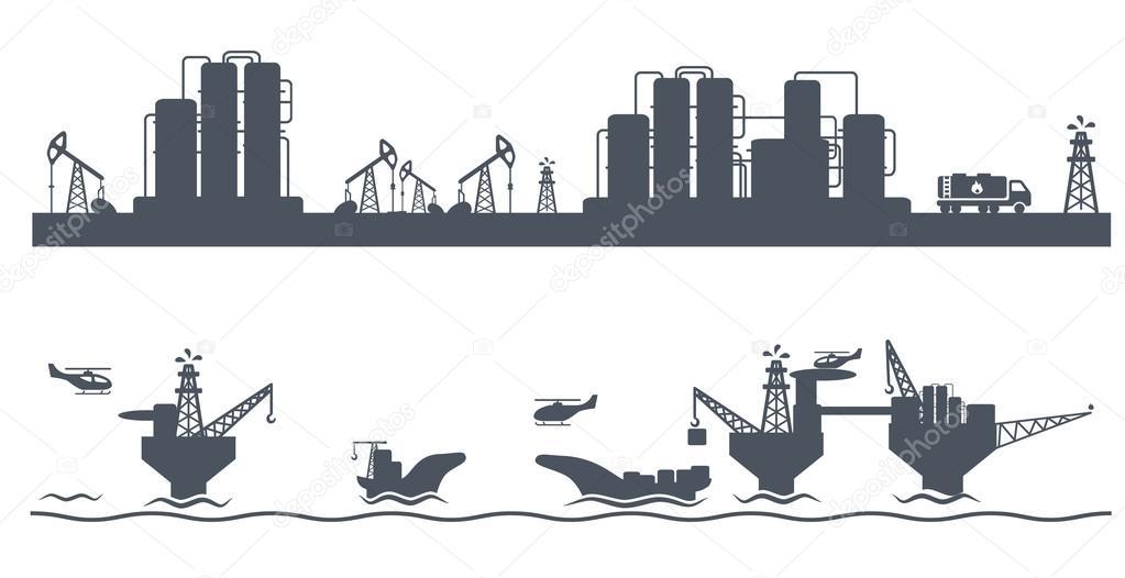 Horizontal seamless background Petroleum industry