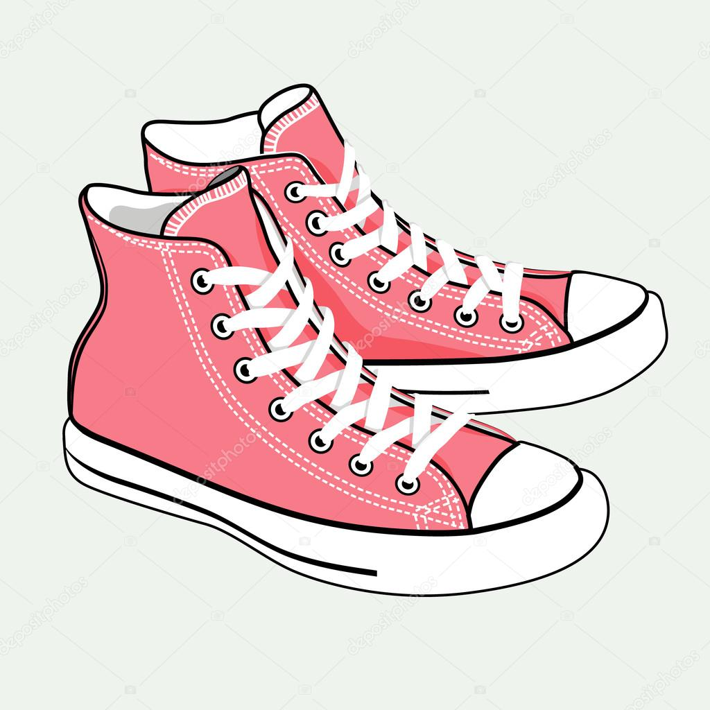 vector de zapatillas de deporte de dibujos animados aislados rosa archivo im u00e1genes vectoriales clip art of shoes broken clip art of shoes broken