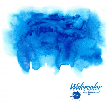 Blue watercolor vector background for textures and backgrounds