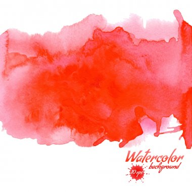 Red watercolor vector background for textures and backgrounds clip art vector