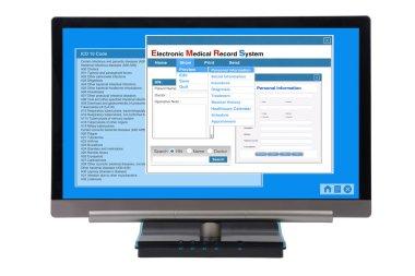 EMR on computer.
