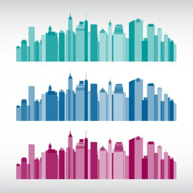 Colorful city illustrations