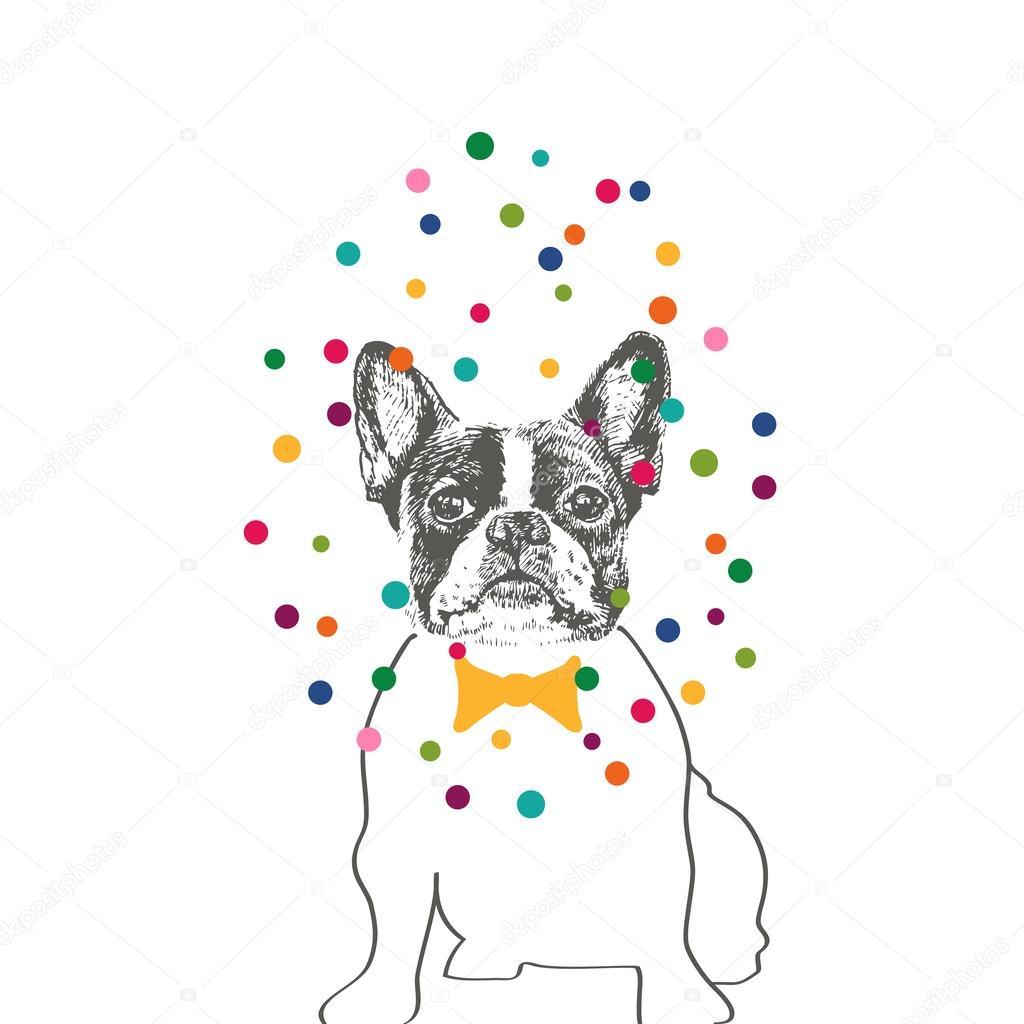 bulldog francés — Archivo Imágenes Vectoriales © mrs_opossum #57357759