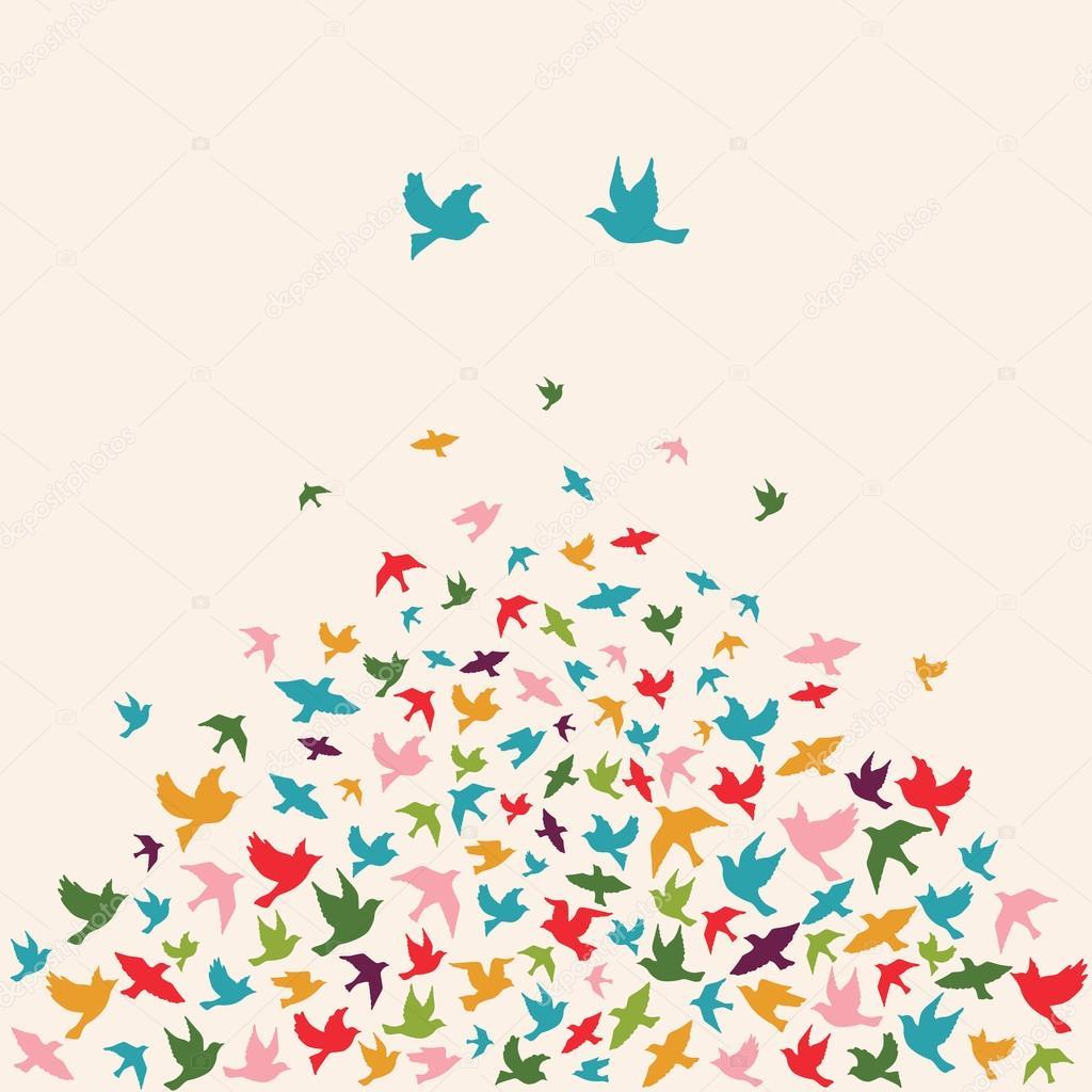 飛ぶ鳥のシルエット \u2014 ストックベクター © mrs_opossum 96079892