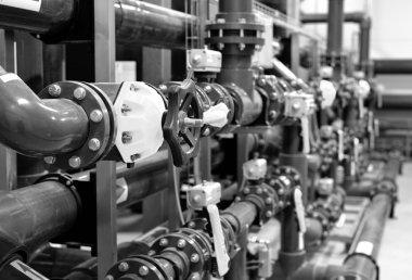 new equipment n industrial boiler room
