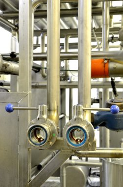 Industrial pipelines at the factory