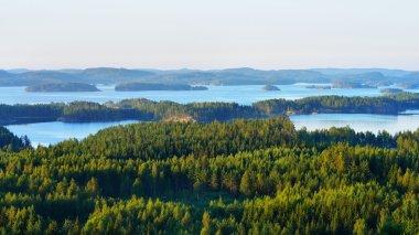Landscape of Saimaa lake