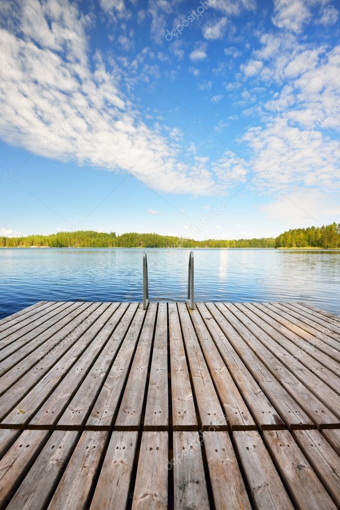 Saimaa lake in Finland