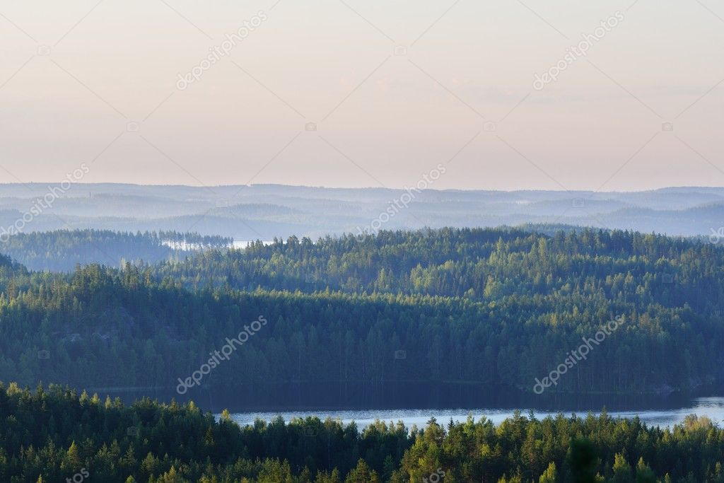 Landscape of Saimaa lake