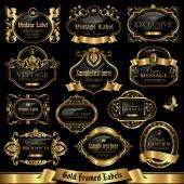 Fotografia Insieme di etichette con cornice oro 11