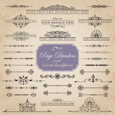 Page Dividers and ornate headpieces set 1