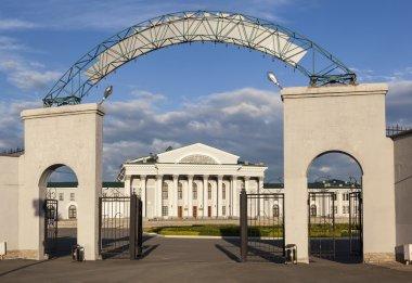 The gates of the stadium
