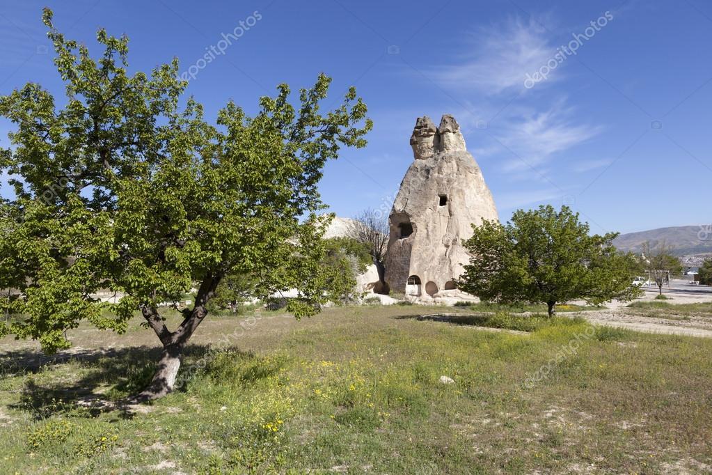Cappadocia, Turkey. Rock weathering Monks Valley (Valley Pashabag)