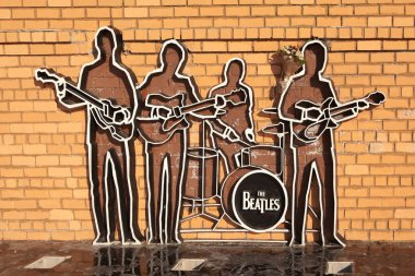 EKATERINBURG, RUSSIA -  OCTOBER 21, 2015: Photo of Monument to The Beatles.
