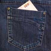 Modré džíny kapsa