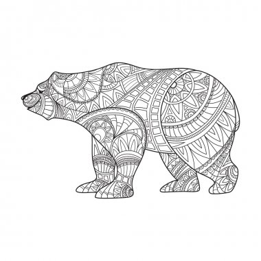 Zentangle style Bear