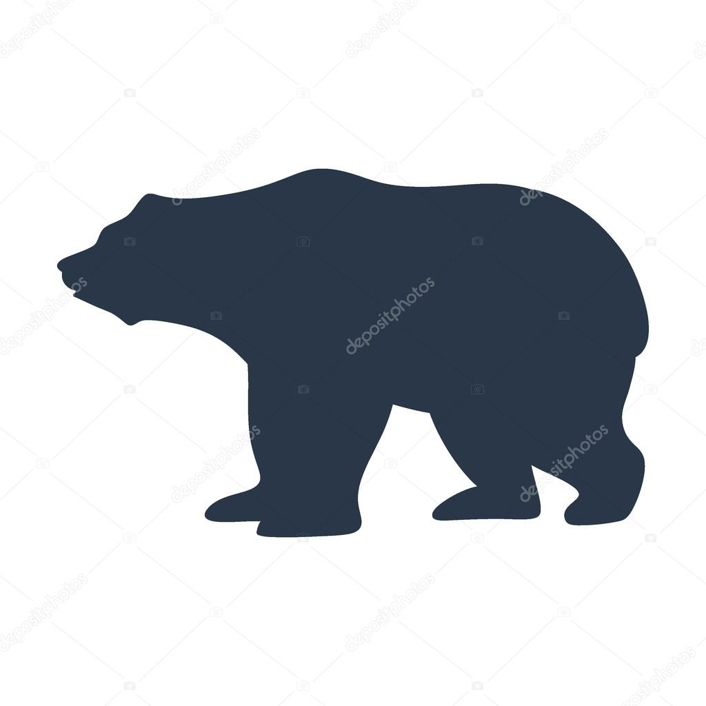 Силуэт медведь