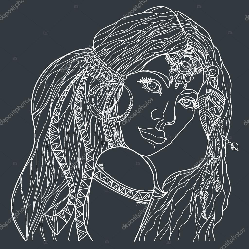 Mujer India con el tradicional maquillaje — Archivo Imágenes ...